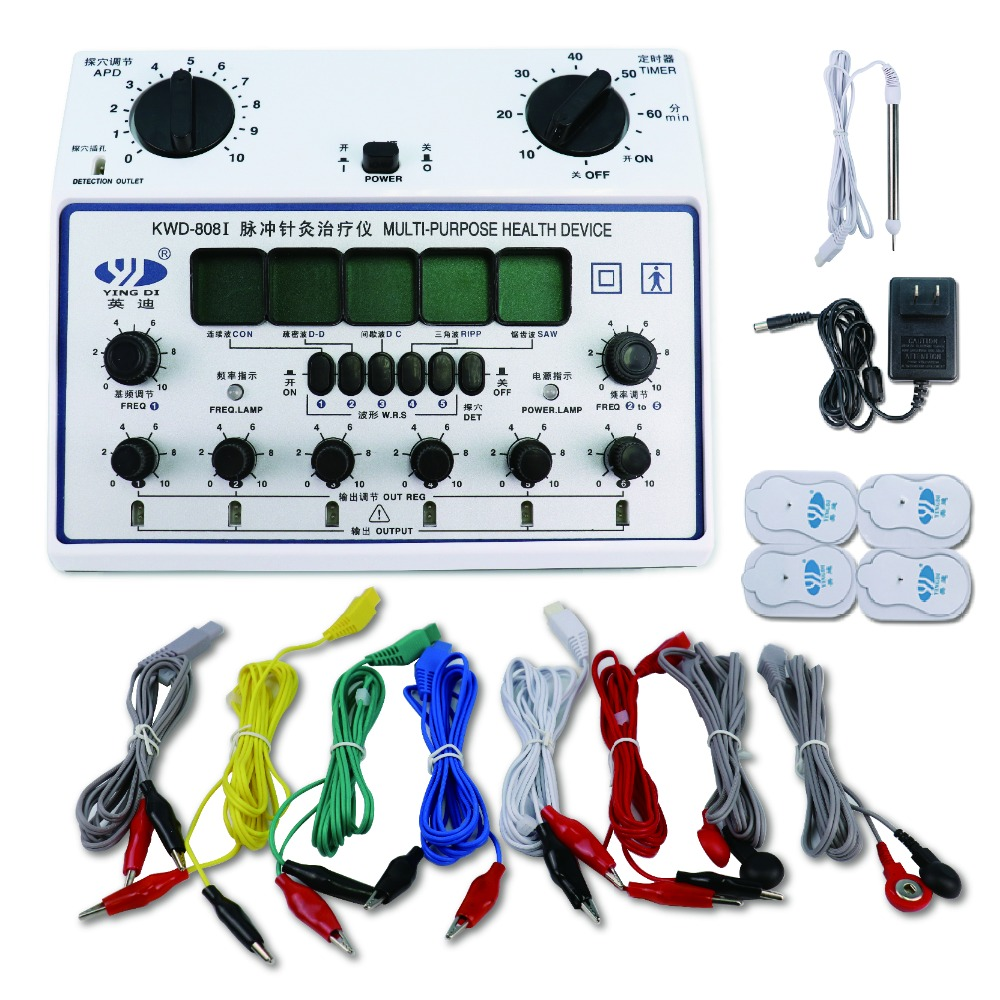 6 Channels Electroe Muscle Stimulator Pulse Tens Acupuncture Therapy Equipment Digital Meridian Body Massager Fat Burner +4 Pads digital meridian therapy machine massager electronic pulse acupuncture 4 pads oranger