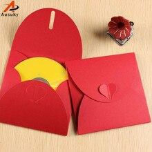 A Ausuky 10 шт мульти-диск бронзовая Свадебная коробка/CD сумка/DVD чехол/CD держатели-15
