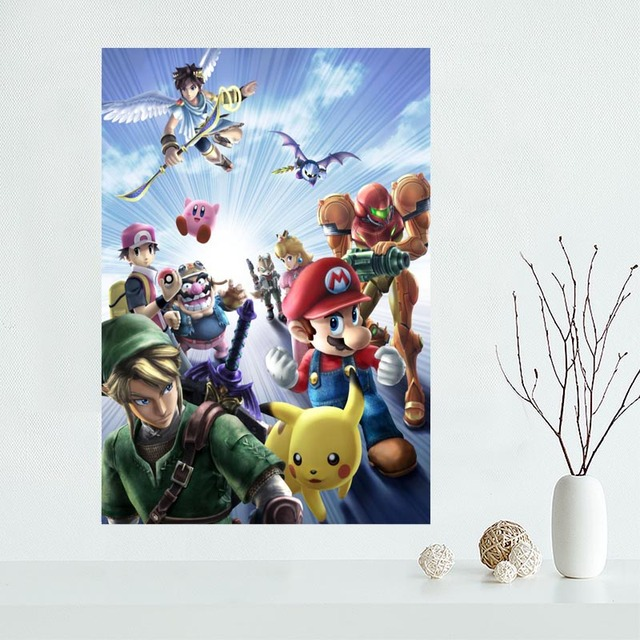 Custom Super Smash Bros Canvas Poster Home Decoration poster cloth fabric Canvas Painting wall poster print 3