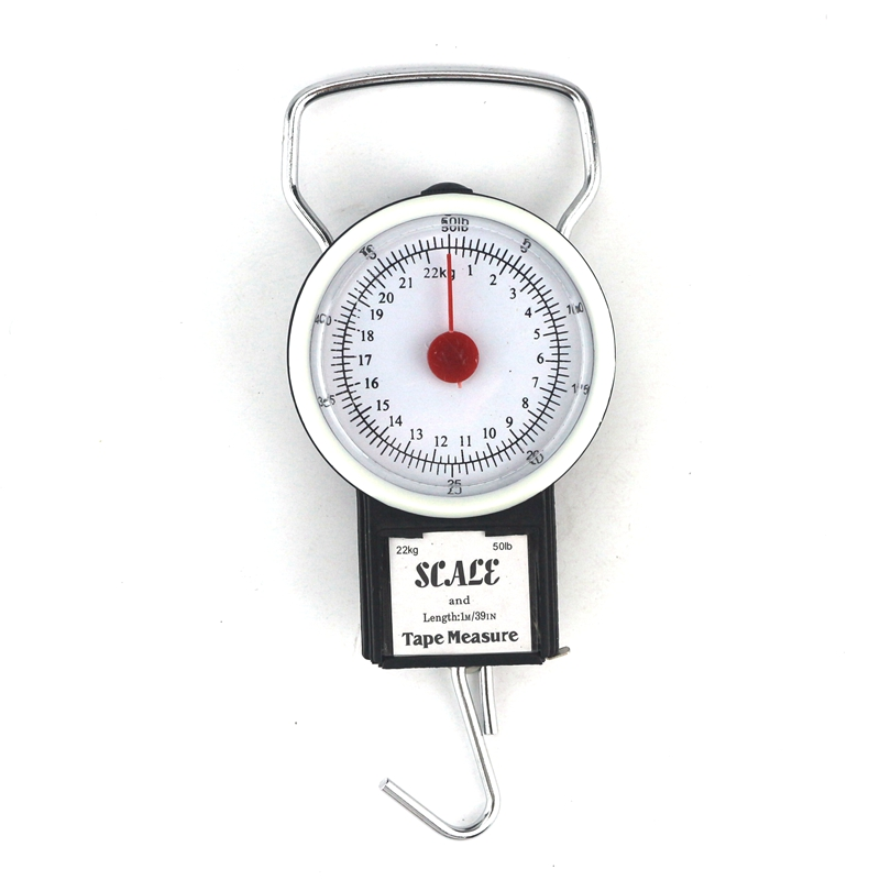 22kg Dial Luggage Scale Bag Weight Blance Baggage Suitcase Travel Scales Tape Measure Portable Hook Libra