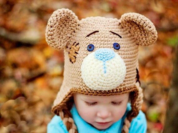 Baby Foto Prop Halloween kostüm Häkeln teddybär Hut, Newborn bär hut ...