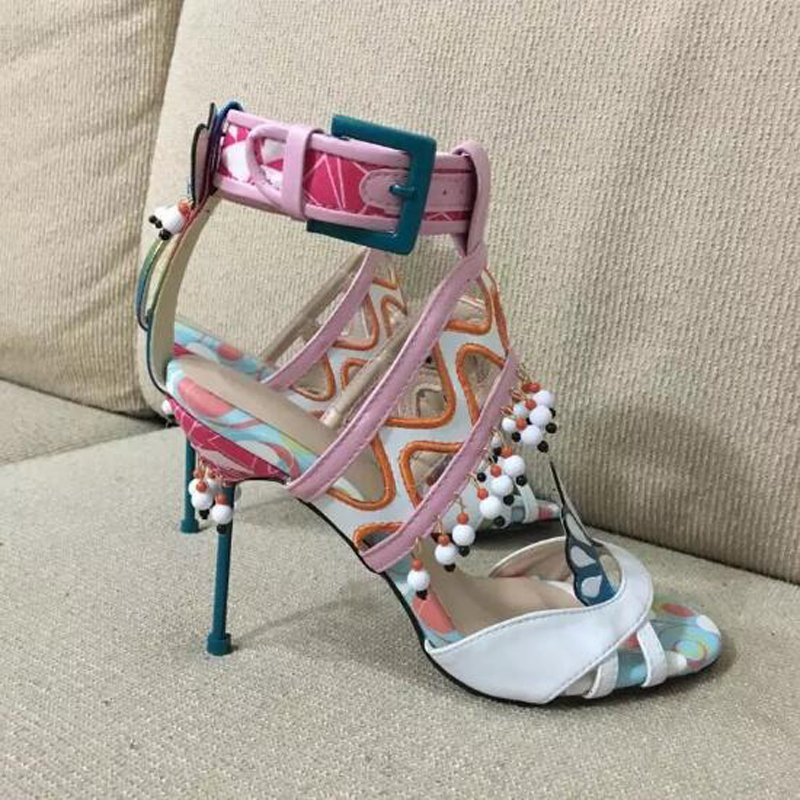 promotion lace up high heel gladiator sandal bling platform sandals new arrival wedding party summer dress shoes women Latest Sweet Multicolored High Heel Sandal Beading Bowtie Embellished Summer Gladiator Sandals Wedding Party Dress Shoes Woman