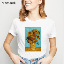 Van Gogh t shirt Art Painting Women Funny vogue tshirt femme summer fashion female T-shirt Harajuku Ullzang tops