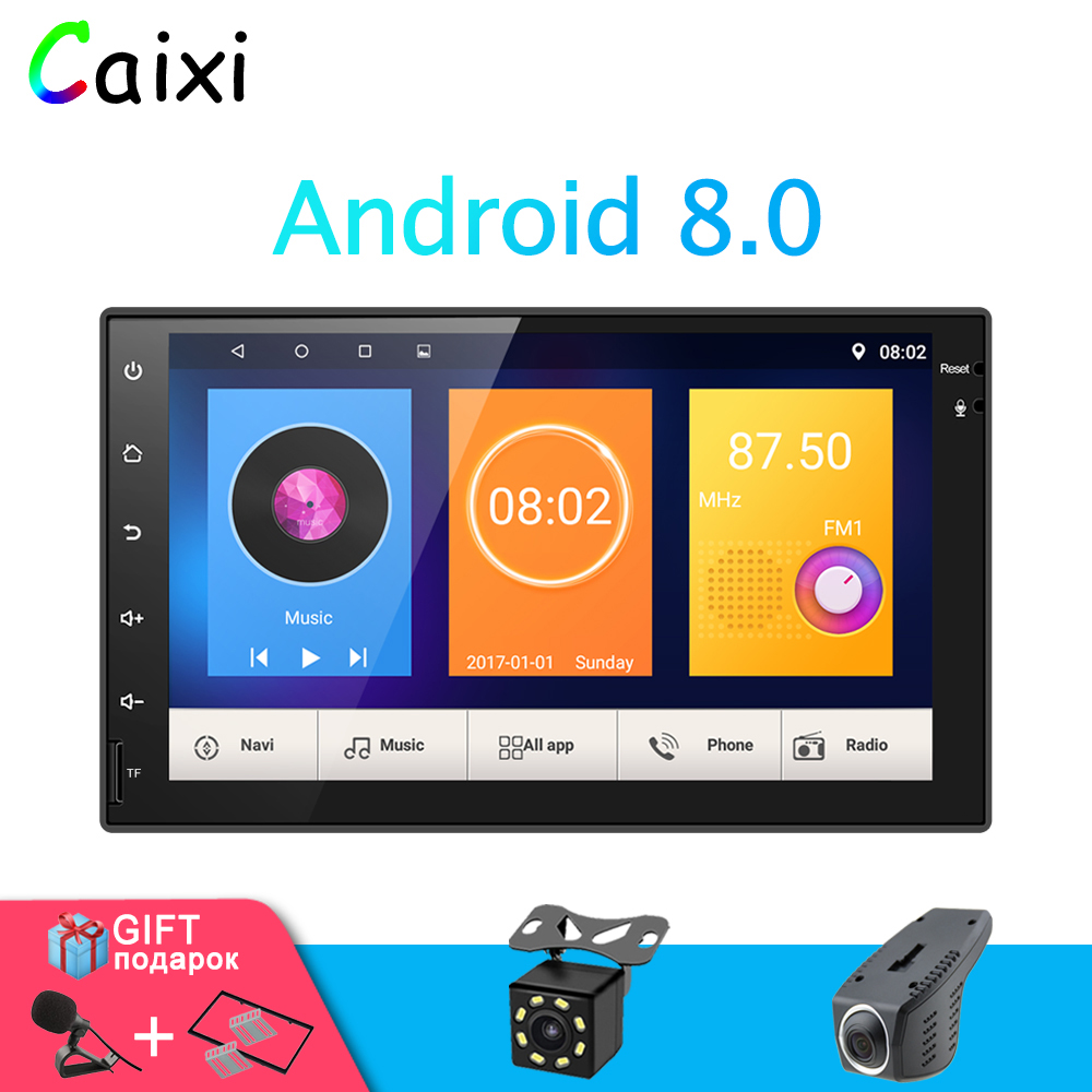 7'' Android 8.0 Car Radio Stereo with RDS GPS Navigation USB SD 2 Din Touch Car Multimedia Player Audio Player Autoradio