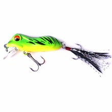 Купить с кэшбэком Hard Frog Fishing Lures 50mm 6g High Quality Topwater CrankBait Pesca Minnow Popper Floating Artifical Baits Fishing Wobblers
