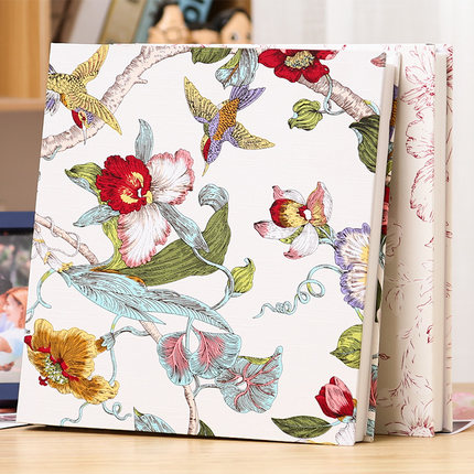 5678 10 pulgadas un paquete de plástico foto se puede cargar algodón jacquard álbum insertar álbum de fotos mezclado