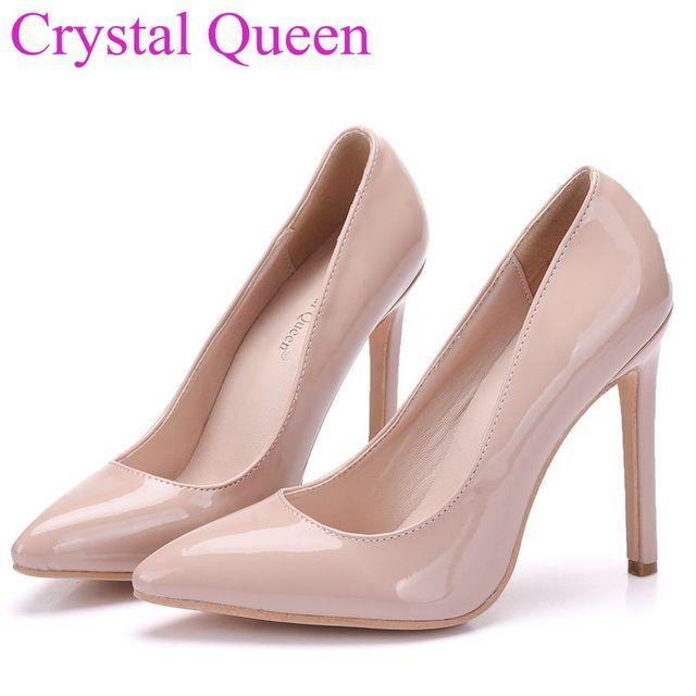 6e8f0ed9 € 18.88  Crystal Queen mujeres zapatos bombas bombas desnudas desnuda sexy  tacones punta estrecha zapatos de tacón alto talones del partido zapatos ...
