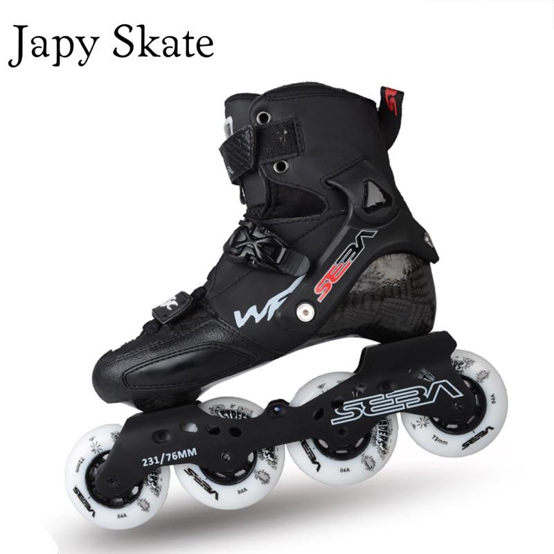 Japy Skate SEBA WFSC Professional Inline Skates Adult Roller Skating Shoes Rocking Frame Carbon Fiber Slalom Free Skating Patins inline speed skate inline speed skating shoes professional child inline roller skates patins roller skate carbon adults