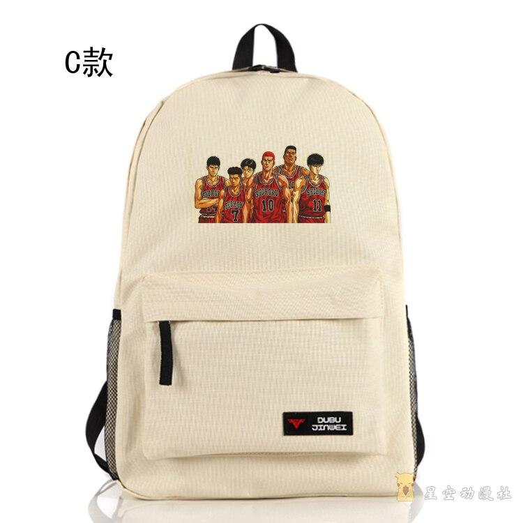 Anime SLAM DUNK Cosplay Hanamichi Sakuragi Cos Cartoon student bag male and female travel backpack gift