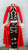 2016 Fate Stay night Archer Outfit Halloween Cosplay Traje Casaco Vestido OutWear Jaqueta Para Homens New Arrival