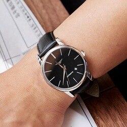 GUANQIN wysokiej jakości zegarki mężczyźni Top luksusowa marka automatyczne zegarek mechaniczny Sapphire zegarki wodoodporne skórzane męskie zegarki na rękę