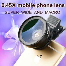Zomei Mobile Phone Lens Wide angle Lens Super Macro 2in 1 Lens Kit  Lens for iPhone 6S 6 Samsung HTC Sony
