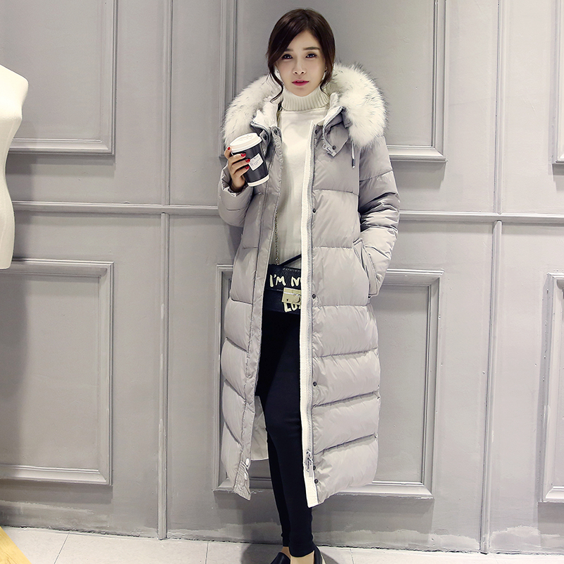 c009a327cba Detail Feedback Questions about Smiao 2018 Winter Female Coat Women s Slim Long  Coats Overcoat Fur Warm Winter Down Jacket Women Plus Size Thick 50% Down  ...