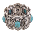 New Spring 2015 Fashion Bohemia Multilayer Beaded Women Silver Vintage Flower Pulseiras Bracelets & Bangles Bijoux Brand