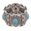 New Spring 2015 Fashion Bohemia Multilayer Beaded Women Silver Vintage Flower Pulseiras Bracelets & Bangles Bijoux Brand