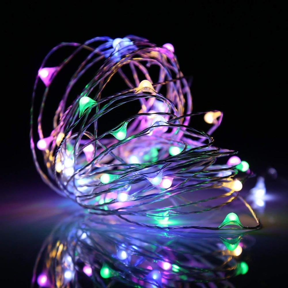 USB 5V 10M LEDs Christmas Garland Copper Wire LED String Lamp Fairy Lights For Indoor New Year Xmas Wedding Decoration