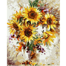 WEEN Sunflowers-Abstract Painting By Numbers kit, Modern Wall Picture For Home Artwork,Diy Digital Paint By Numbers 40x50CM(China)