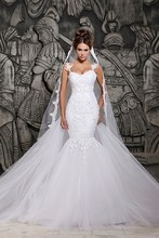 Real Foto Vestidos De Noiva Trumpet Mermaid Wedding Dresses Vestido Csamento Robe Mariage 2015 MY-101