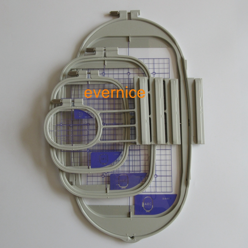 4 Embroidery Hoops for Brother Duetta,Quattro,Dream Maker,Innovis 4000D/5000