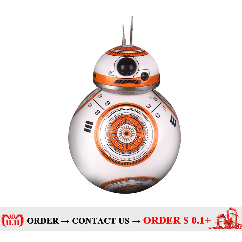 Movie toys Star Wars RC BB-8 Robot Star Wars 2.4G remote control BB8 robot Action Figure Robot Intelligent Ball kid gift boy toy 2 4g remote control bb 8 robot upgrade rc bb8 robot with sound and dancing action figure gift toys intelligent bb 8 ball toy 01