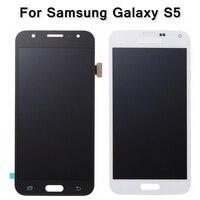 High Quality Black White Digitizer Assembly For Samsung Galaxy S5 I9600 SM G900 G900F G900R G900F