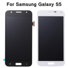 High Quality Black/White Digitizer Assembly For Samsung Galaxy S5 i9600 SM-G900 G900F G900R G900F Phone LCD Display Touch Screen(China)