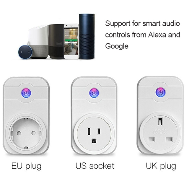 US $15 37 15% OFF|Alexa SWA1 10A Home Automation Wireless Smart WiFi  Socket, Support Smartphone Remote Control & Timing Switch, EU US UK Plug-in  Smart
