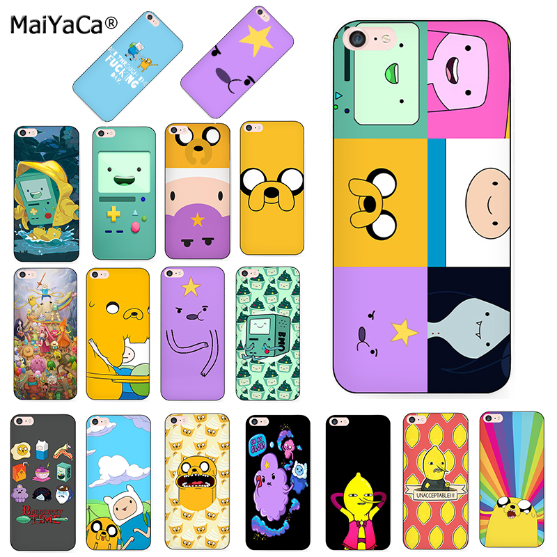 Adventure Time Cute Beemo BMO Jake Finn Lumpy Cover Mobile Phone Case For Iphone 8 7 6 6S Plus X XS MAX XR 5S 5C Case