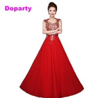 Caftan Dubai Formal Elegant Long Royal Blue Red A Line Appliques Chiffon Sleeveless Evening Dresses 2015