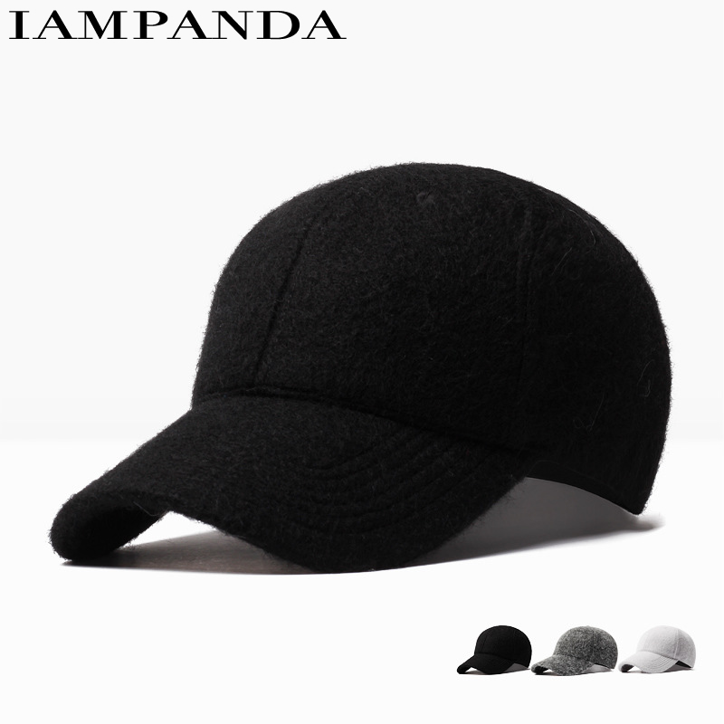 Iampanda Brand 2017 Super Warm Unisex Fashion Baseball Cap Women Snapback Hat For Men Rabbit Casual Solid Color Caps Wholesale climate men women no logo brushed best heavy thick massy warm baseball caps twill sports active casual one size adjustable hat