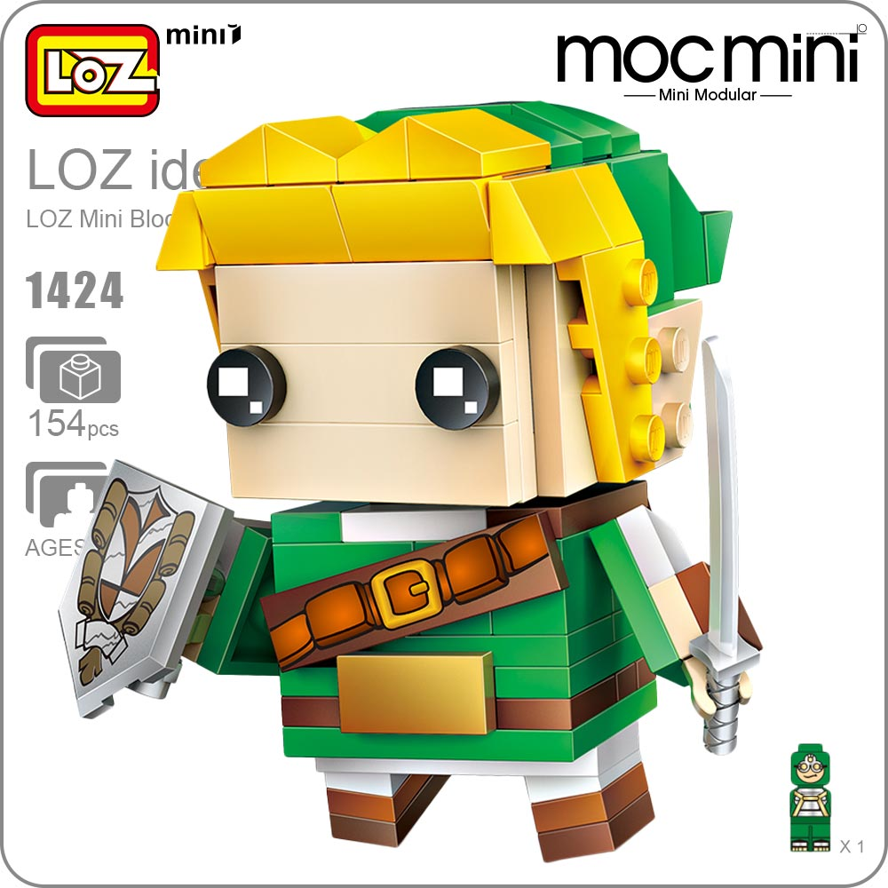 LOZ Blocks Super Hero Figure Action Japanese Games Mini Building Blocks Bricks Educational DIY Plastic Assembly Toy Hobbies 1424 loz diamond blocks dans blocks iblock fun building bricks movie alien figure action toys for children assembly model 9461 9462