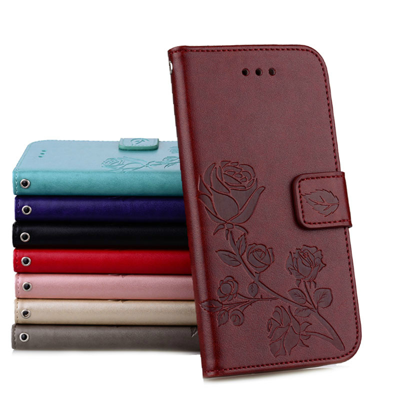 Konfurer Magnetic Flip Luxury Leather Phone Case For Samsung Galaxy S8 Light Weight Ultra Thin Cover Case Holster Bag