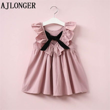 AJLONGER Brand New Girl Dresses Party Sweet Dress Little Girls Kids/Children Bow