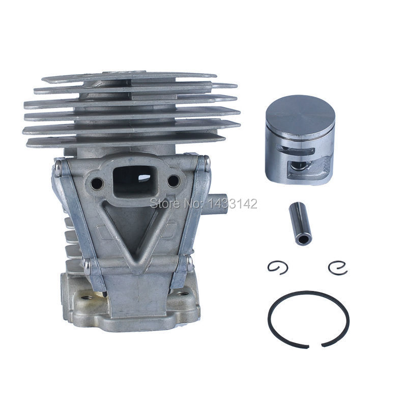 42MM Cylinder Piston Ring Clips Assembly Kit Fit HUSQVARNA 445 445e Replace OEM .No 544 11 99-02 38mm engine housing cylinder piston crankcase kit fit husqvarna 137 142 chaisnaw