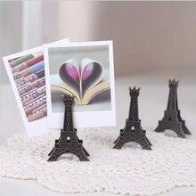 1 шт. Корея канцелярские Винтаж Париж Эйфелева башня металлический подарок зажим для визиток стенд фото держатель для карт Memo бумага зажим для заметок визитница