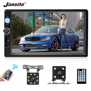 """Image 1 - جانسايت 7 """"كامل HD 1080P راديو السيارة MP5 لاعب DVD مع 8LED ضوء كاميرا خلفية شاشة تعمل باللمس بلوتوث مرآة رابط 2 الدين ستيريو سيارة"""