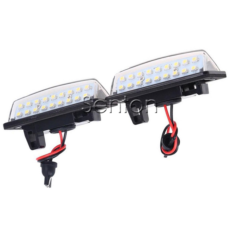 1Pair Car LED number License Plate Light 12V SMD LED lamp Car Styling For Nissan Versa Note Tenna J31 Maxima Cefiro Altima Rogue
