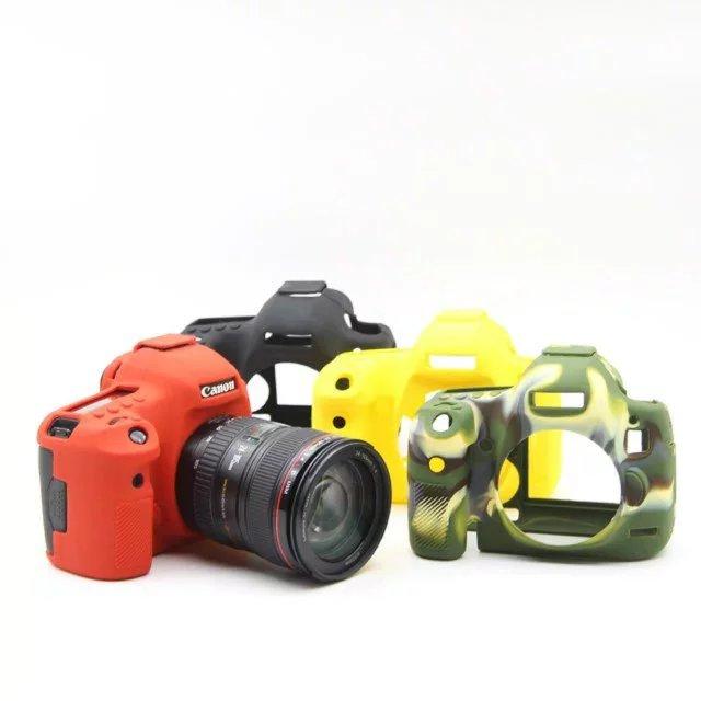 Niza suave silicona caucho DSLR Cámara cubierta del cuerpo para Canon 5 DIII 6D 6D2 750D 80D 800D 1300D 5D4 bolso de la cámara