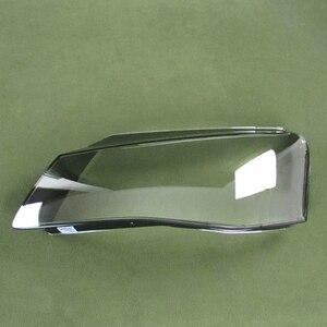 Image 4 - لأودي A8 11 13 الجبهة العلوي الظل العلوي شفافة الظل العلوي قذيفة عاكس الضوء كشافات غطاء قذيفة الزجاج