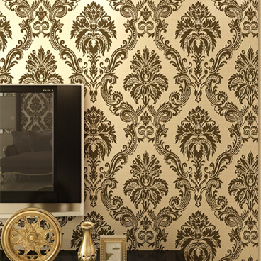 beibehang Luxury Beige Damask Shining wallpaper for walls 3 d Floral damask design glitter wall paper for living room/bedroom 7 colors optional beige floral wallpaper damask wallpaper pvc wall murals free shipping best wallpaper qz0314