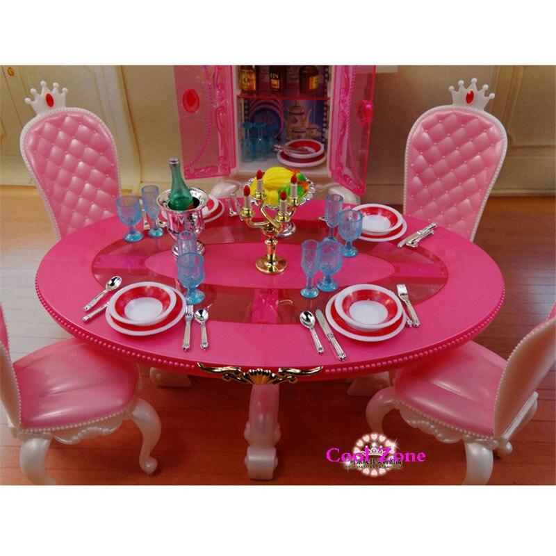 Miniatyrmøbler Prinsesse Spisesal -C for Barbie Doll House Pretend - Dukker og tilbehør - Bilde 2