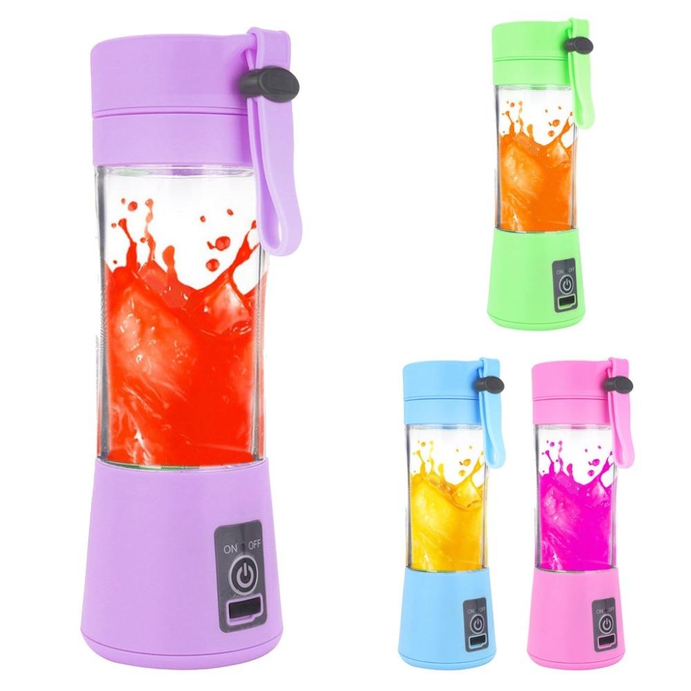 380ml 2/4/6 Blades Mini Portable Electric Fruit Juicer USB Rechargeable Smoothie Maker Blender Machine Sports Bottle Juicing Cup