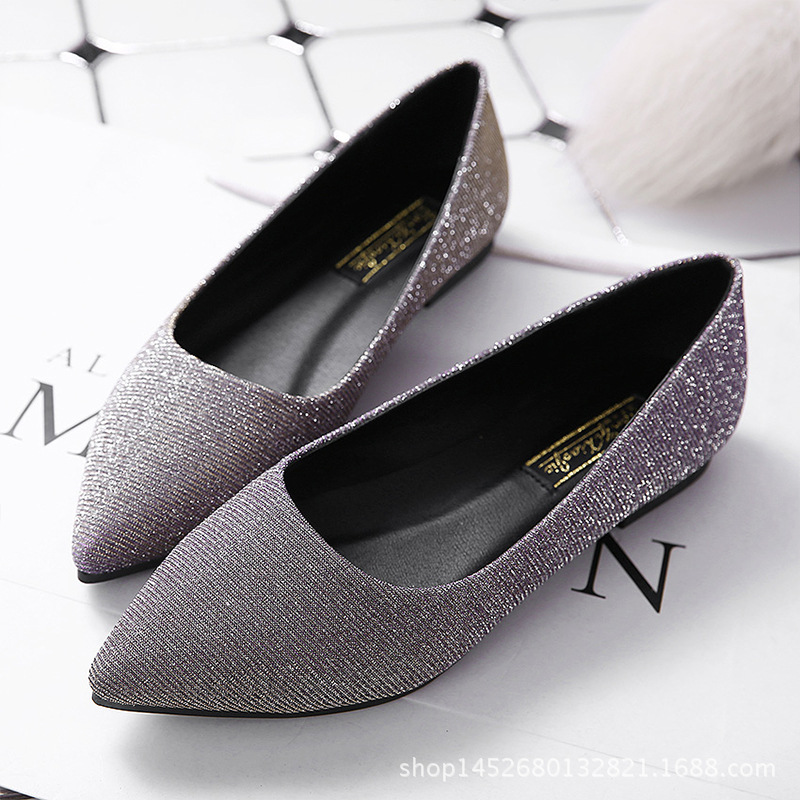 Dropshipping Slip On Womens Flats Shoes Loafers Blings Women Ballerina Flats Casual Comfort Ladies Shoes plus size 35-42 odetina 2017 new women pointed metal toe loafers women ballerina flats black ladies slip on flats plus size spring casual shoes