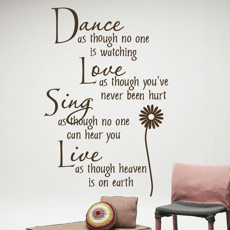 2018 Hot Sale Dance Love Sing Live Wall Quotes Wedding Decoration