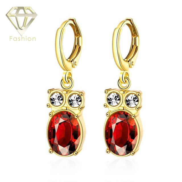 Childrens Jewellery Hot Sale Classic Luxury Gold Color Cute Owl Shaped With Austrian Zircon Crystal Clip