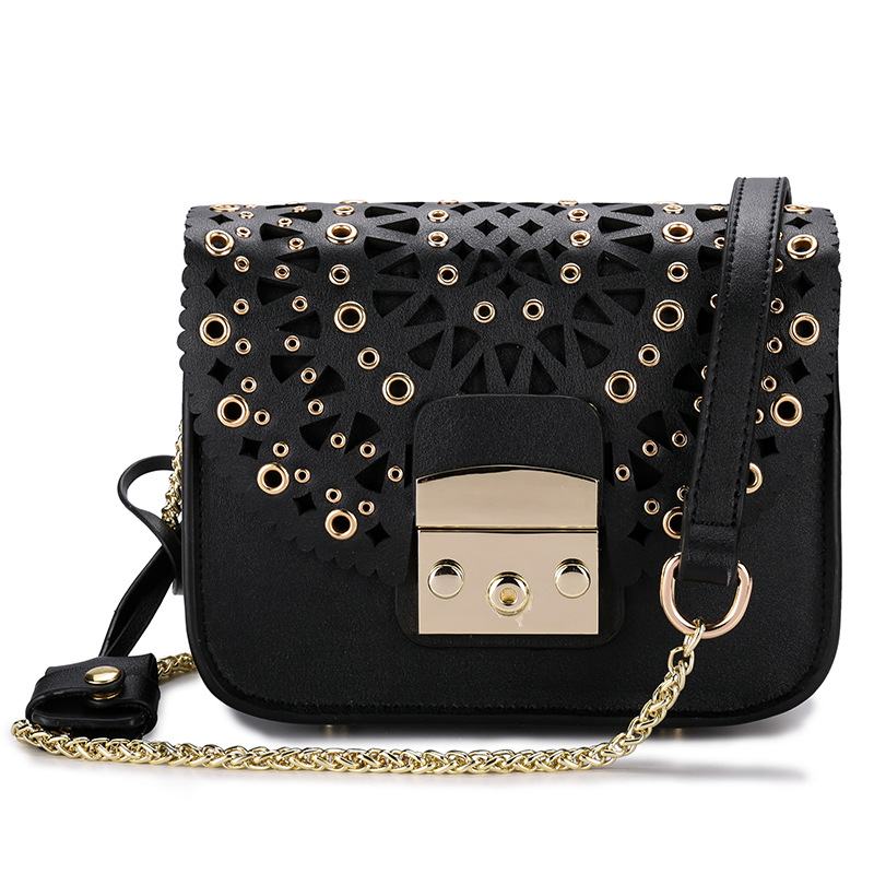 Luxury Brand style 2018 fashion Messenger bag women handbag genuine leather cow leather ladies flap Sequined Hollow Out bags handbag designer cow style bag women lock handbag luxury genuine leather totes cow leather classic brand messenger bags