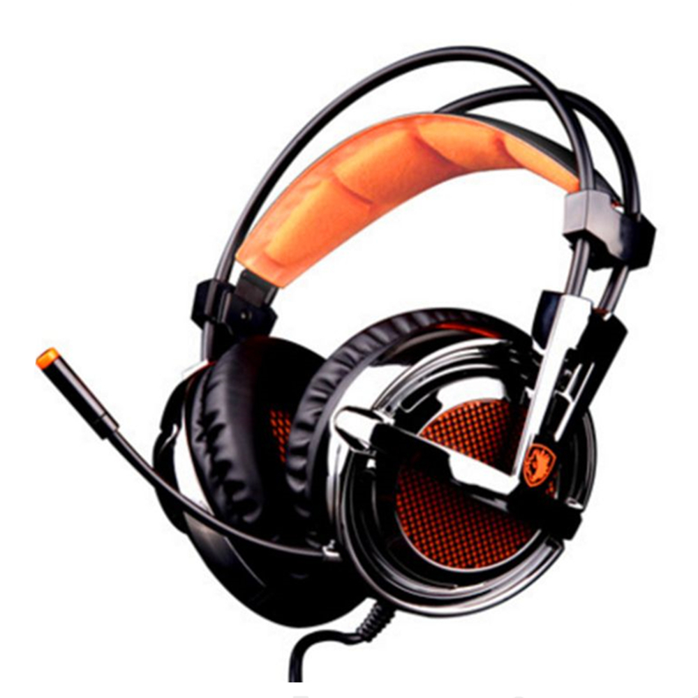 Sades A6 Plus Professional Gaming Headphones USB 7.1 Channel Vibration Headset Stereo Headband with Microphone for PC Gamer sades a6 usb 7 1 surround sound stereo gaming headset headband over ear headphone with mic volume control led light for pc gamer