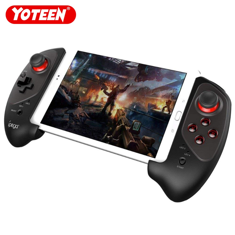 Yoteen Telescopic Gamepad for iPad Wireless Bluetooth Game Controller for Mobile Phone Holder for Android iOS