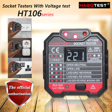 HABOTEST HT106E/B/D Socket Testers With Voltage test; Socket detector ground zero line plug polarity phase check