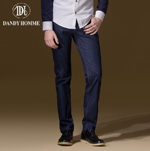 Dandy Homme 2015 High Quality 100% Cotton Autumn Men Fashion Mid Waisted Jersey Slim Leisure Young Man Long Pants Boy Jeans New